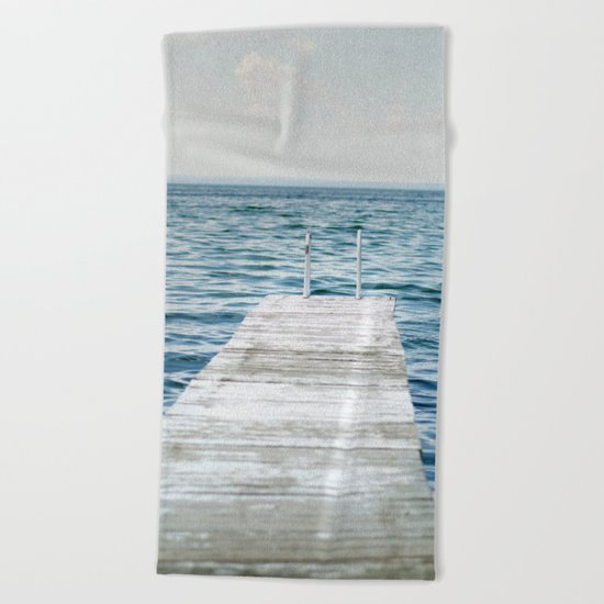 Out into the Lake Beach Towel