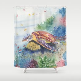 Sea Turtle and Friends Shower Curtain
