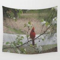 cardinal Wall Tapestries featuring Cardinal  by Earth'sAnimalActivist23