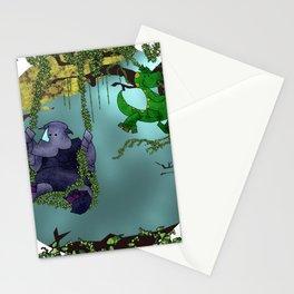 Rhino and Dino Swing Stationery Cards