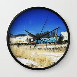 Blue Graffiti Wall Clock