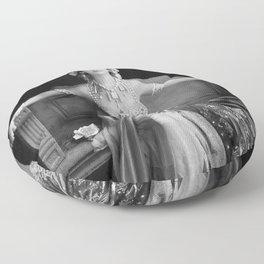 Mata Hari, Famous French Dancer and Femme fatale black and white photograph / black and white photography Floor Pillow