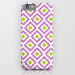 Purple and Green Diamonds iPhone Case