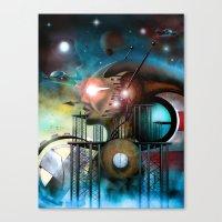 titan Canvas Prints featuring Titan by Pantalla 64