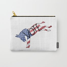 Vote Democrat Donkey Distressed USA Flag Design Carry-All Pouch