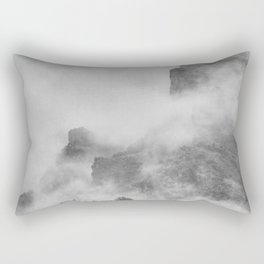 """""""The mountains are calling to me"""". BW. Square Rectangular Pillow"""