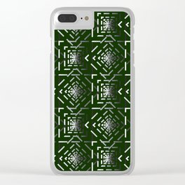 Rotate squares Green Clear iPhone Case