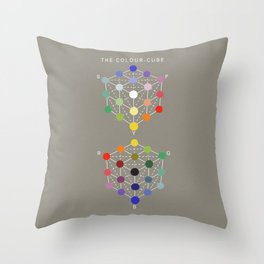 Illustration from the Manual of the science of colour by W. Benson, 1871, Remake (interpretation) Throw Pillow