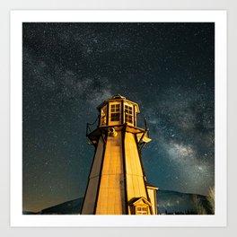 Mountain Light House Two Art Print