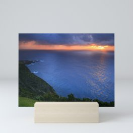 Coastal sunset Mini Art Print