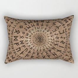Elder Futhark Circular Composition Rectangular Pillow