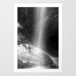 Rock in the Falls Art Print