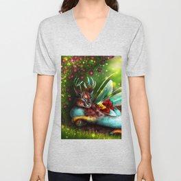 Caracaral Deer Fairy Unisex V-Neck