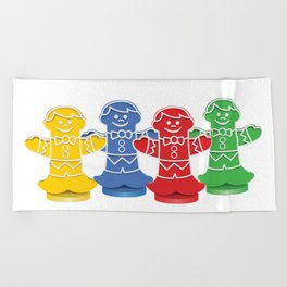 Candy Board Game Figures Beach Towel