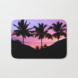 Sunset Palm Trees Bath Mat