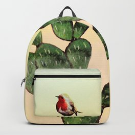 Cactus and a Bird Backpack