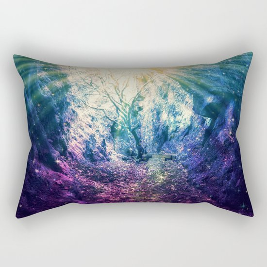 Light At The End of the Tunnel : Deep Pastels Rectangular Pillow