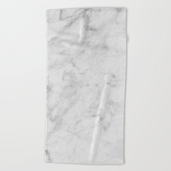 Carrara Marble Beach Towel