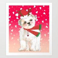 Christmas Cutie Art Print