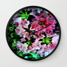 At the end of the garden Wall Clock