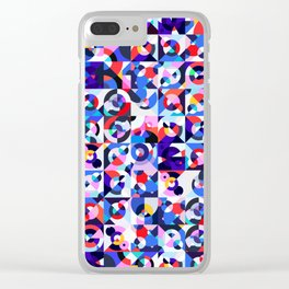 Kleurstaal Rug Clear iPhone Case
