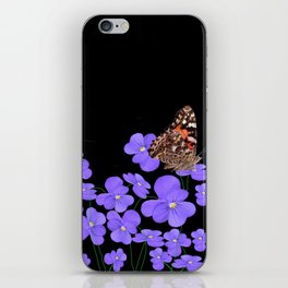 Butterflies & violets iPhone Skin