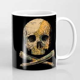 Treasure Map Skull Wanderlust Europe Coffee Mug