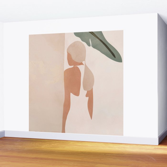 Abstract Woman in a Dress Wall Mural