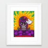 magneto Framed Art Prints featuring Magneto by monsterlash