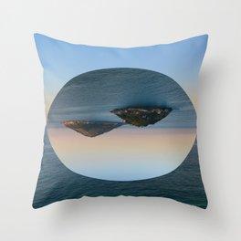 Slice of Island Throw Pillow