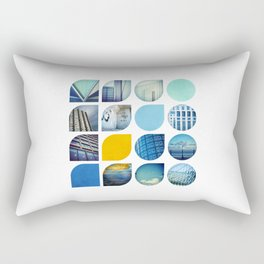 Cold Comfort Collage — The Blues Rectangular Pillow