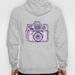 I Still Shoot Film Holga Logo - Reversed Deep Purple Hoody