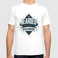 BEARDED FOR HER PLEASURE Mens Fitted Tee White LARGE