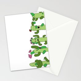 Cactus Family (colour version) Stationery Cards