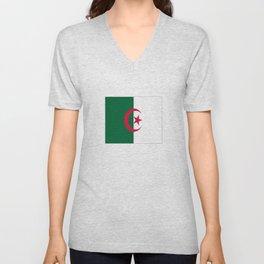 Flag of algeria -algerian,algiers,camus,chaabi,oran,constantine,Annaba. Unisex V-Neck