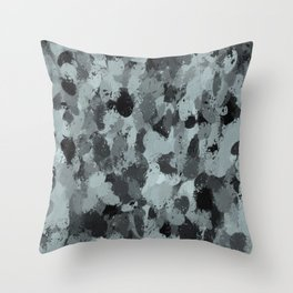 Black and Smokey Blue Pastels 3216 Throw Pillow