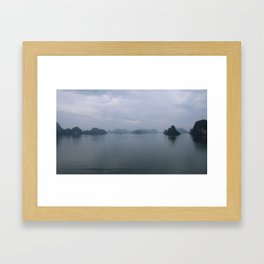 Ha Long Bay Mist Framed Art Print