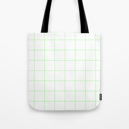 Graph Paper (Light Green & White Pattern) Tote Bag