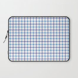 Classic Blue & White Large Tattersall Check Pattern Laptop Sleeve