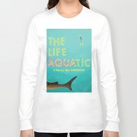 tenenbaums Long Sleeve T-shirts featuring The Life Aquatic by Wharton