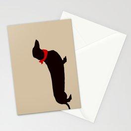 Daschund Dog Art Stationery Cards