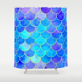 mermaid scale home design pattern Shower Curtain