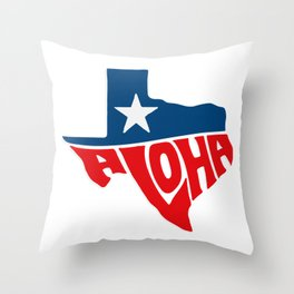 Texaloha Throw Pillow