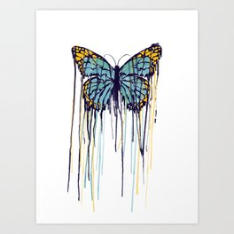 Melting Monarch (collab with Matheus Lopes) Art Print