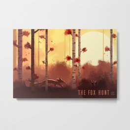 The Fox Hunt Metal Print