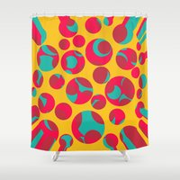 cheese Shower Curtains featuring Psychedelic cheese by Gaspar Avila