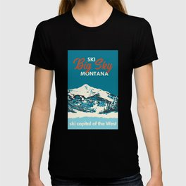 Ski Big Sky Montana Vintage Poster T-shirt