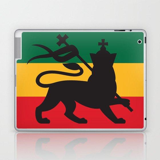 Rastafarian Flag With The Lion Of Judah Reggae Background Laptop