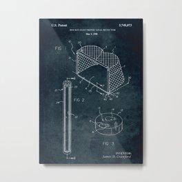 1998 - Hockey electronic goal detector patent art Metal Print