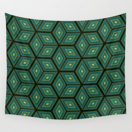 Cubed Geometrical Pattern Wall Tapestry